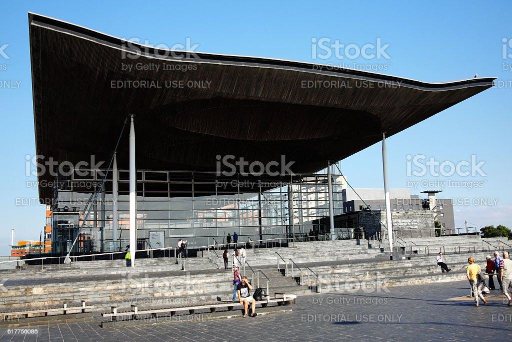 Senedd, National Assembly Building stock photo