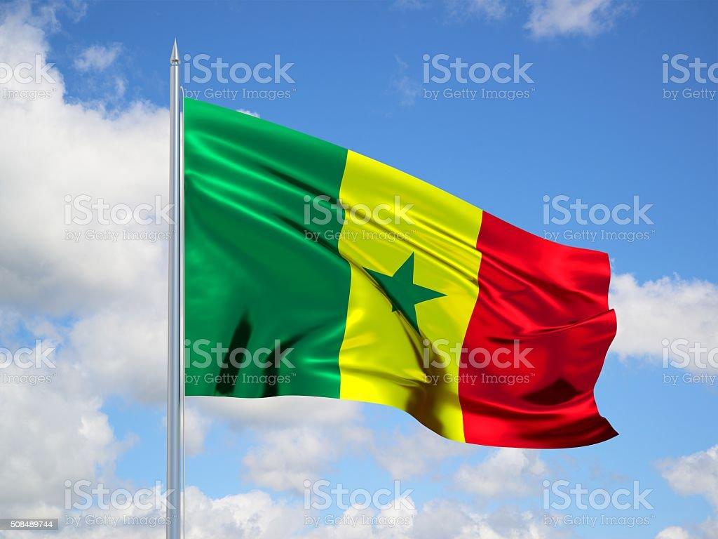 Senegal 3d flag stock photo