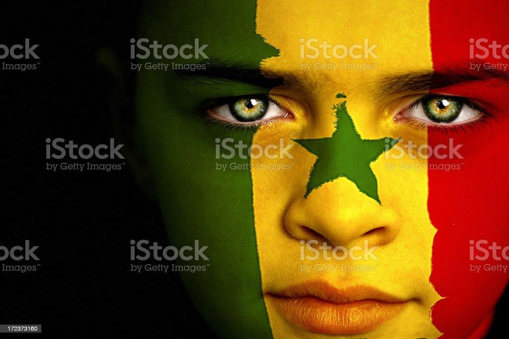 Senegal Boy stock photo