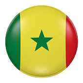 Senegal button on white background
