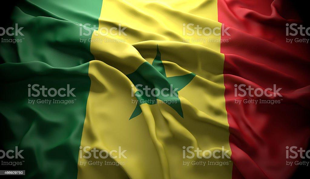 Senegal, Dakar national official state flag stock photo