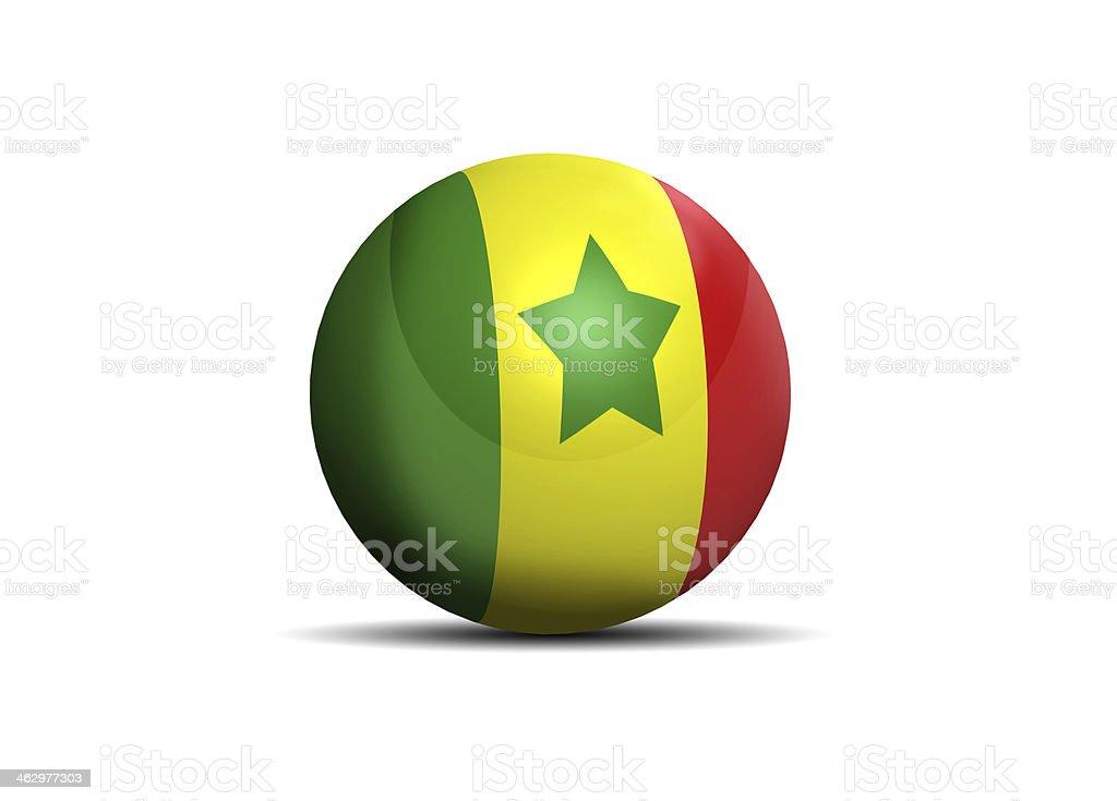 Senegal flag ball stock photo