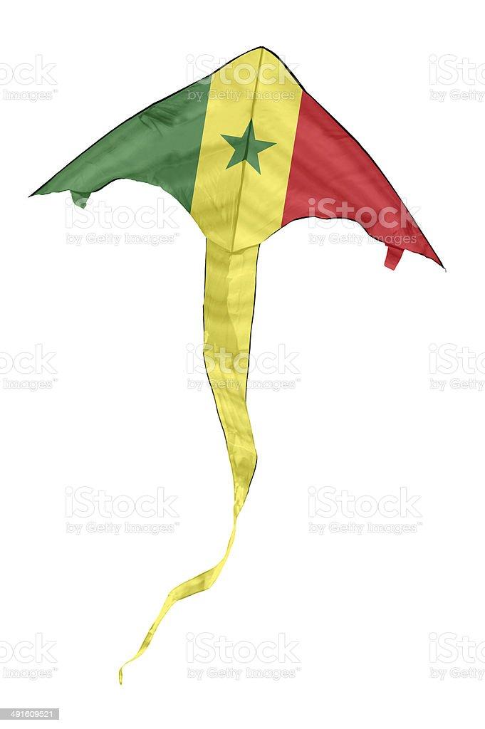 Senegal Flag Kite stock photo