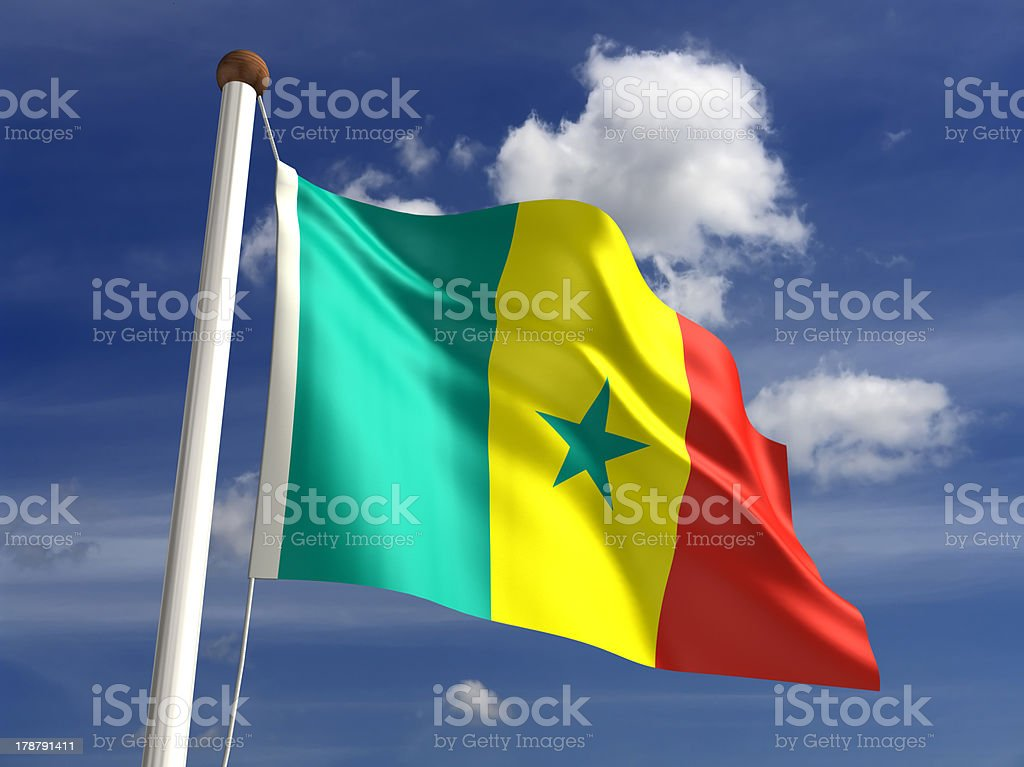 Senegal flag (with clipping path) royalty-free stock photo