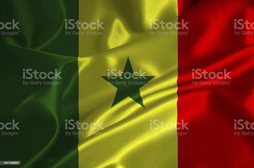 Senegal flag stock photo