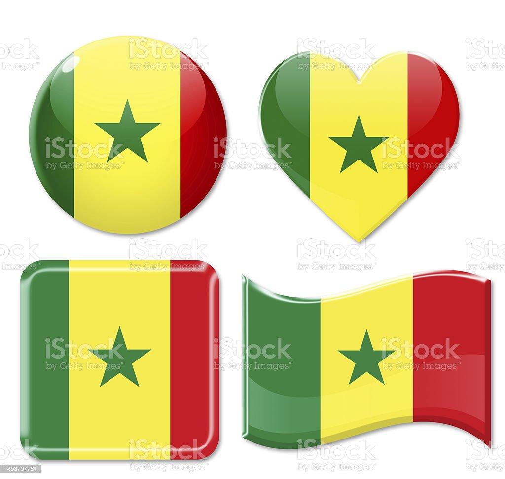 Senegal Flags & Icon Set stock photo