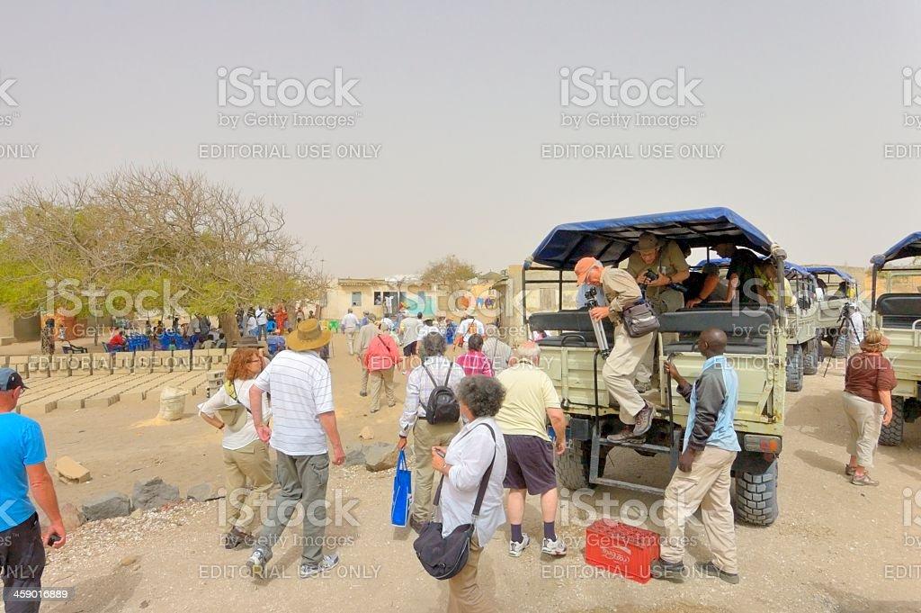 Senegal Native Village Tour royalty-free stock photo
