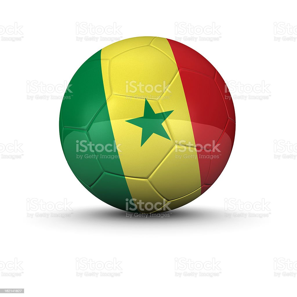 Senegal soccer ball stock photo