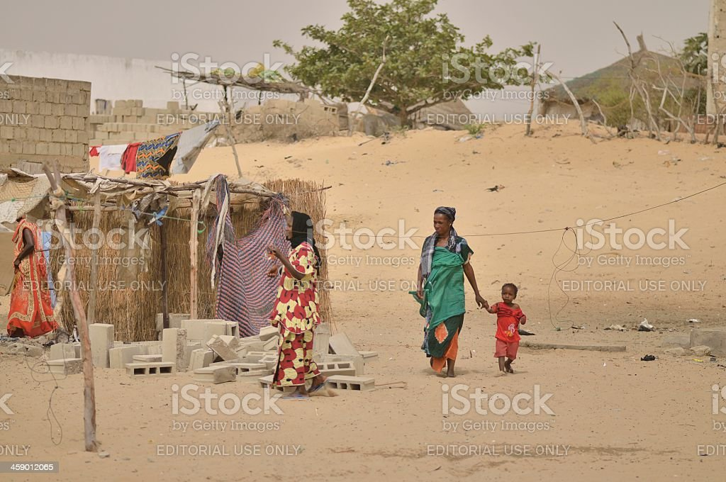 Senegales Women And Child stock photo