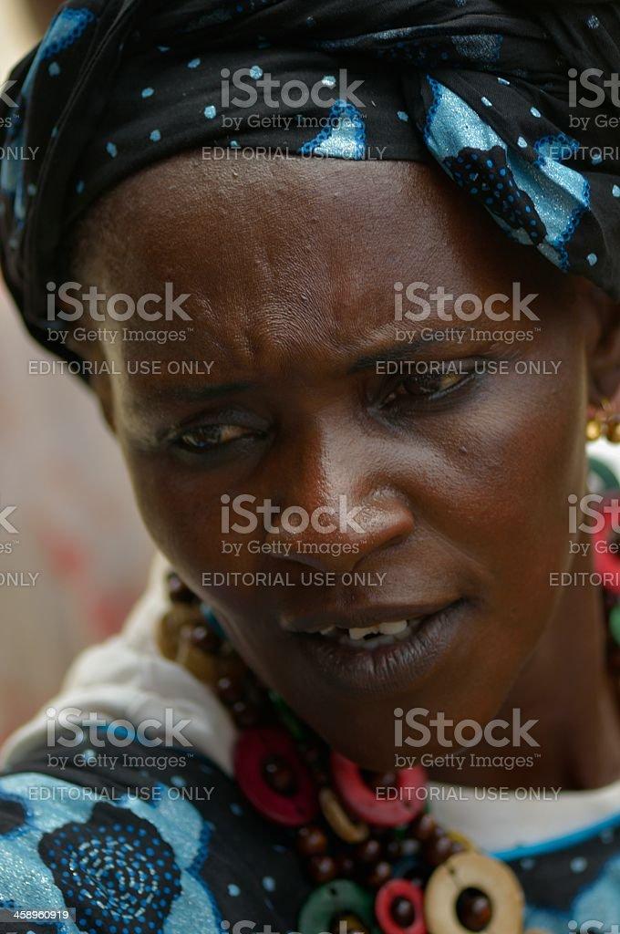 Senegalese Native Woman Vendor stock photo