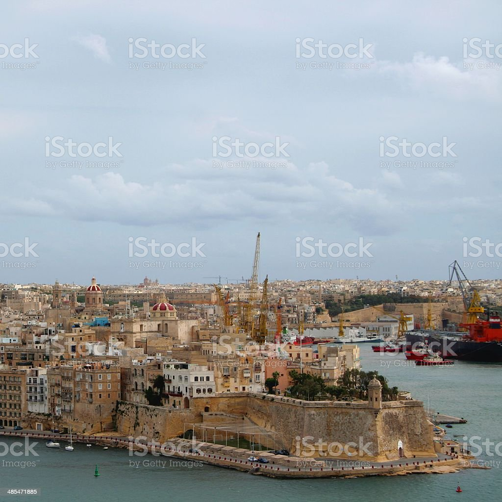 Senglea cityscape. Malta. royalty-free stock photo