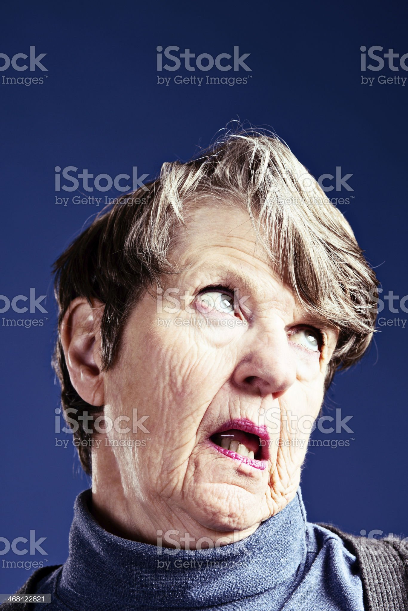 Senile dementia or alzheimers takes its toll royalty-free stock photo