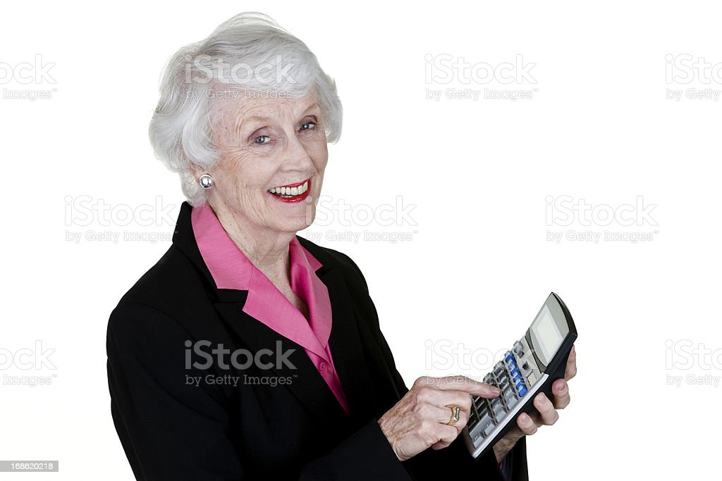 Senior accountant royalty-free stock photo