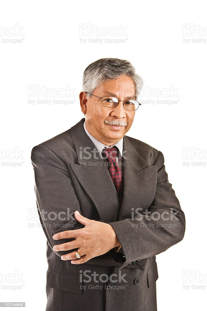 senior adult in suit royalty-free stock photo