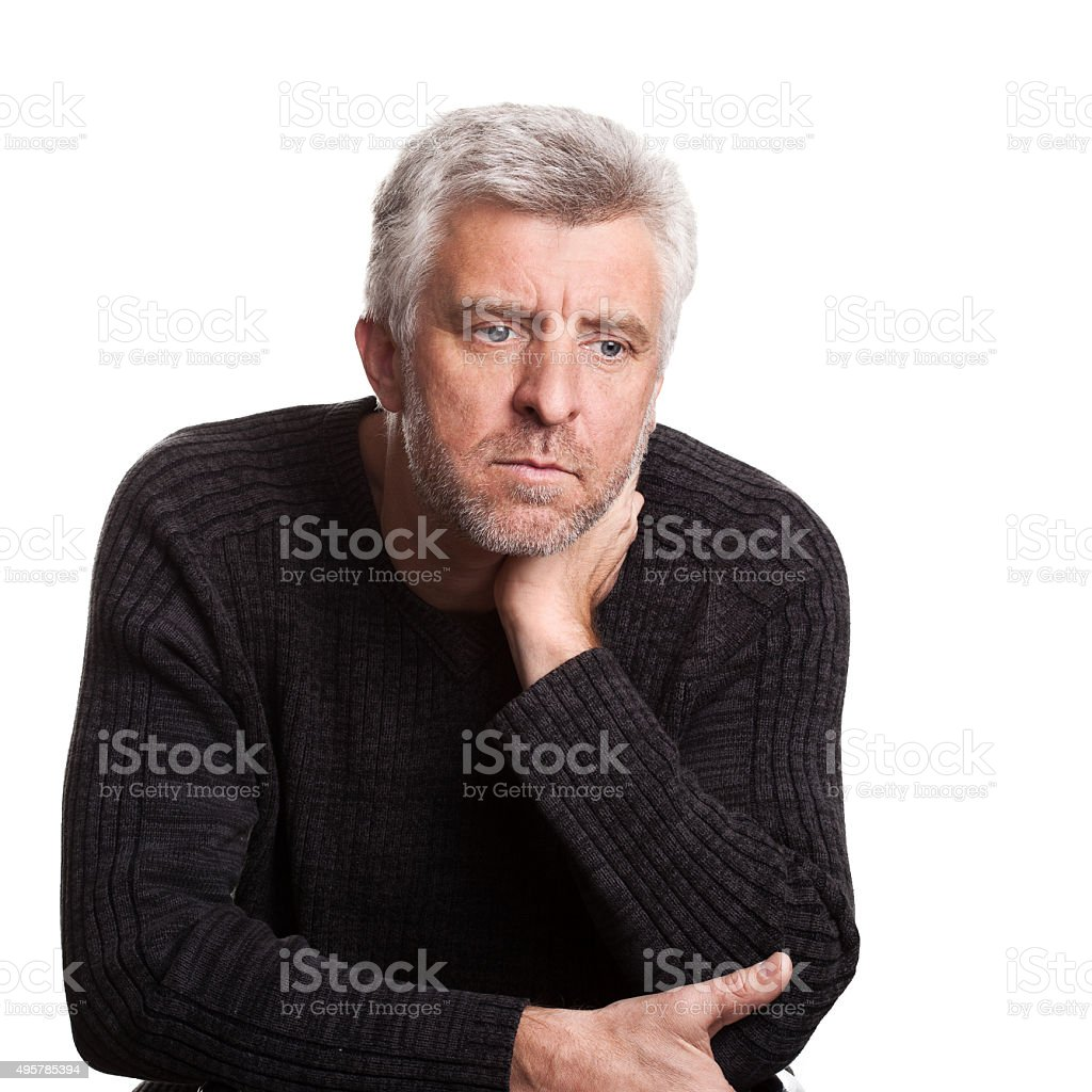 senior adult man stock photo