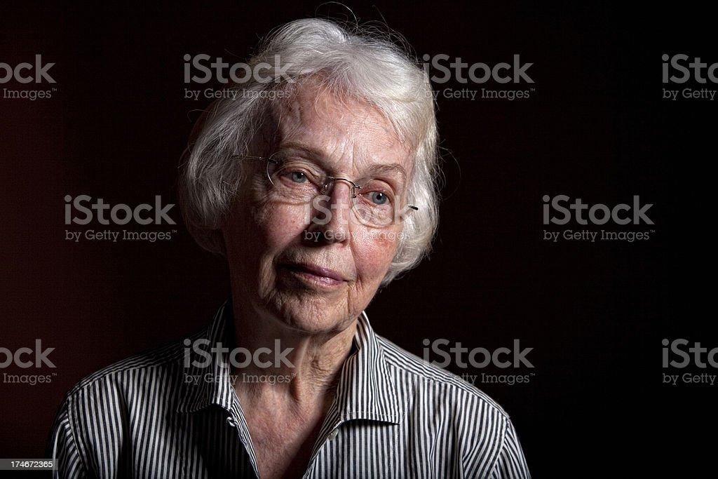 Senior Adult Pondering royalty-free stock photo