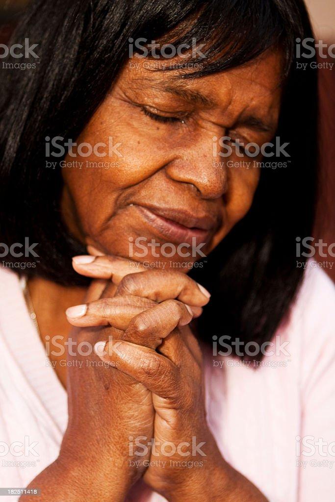 Senior Adult Praying royalty-free stock photo