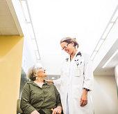 Senior Adult Woman Meeting New Doctor