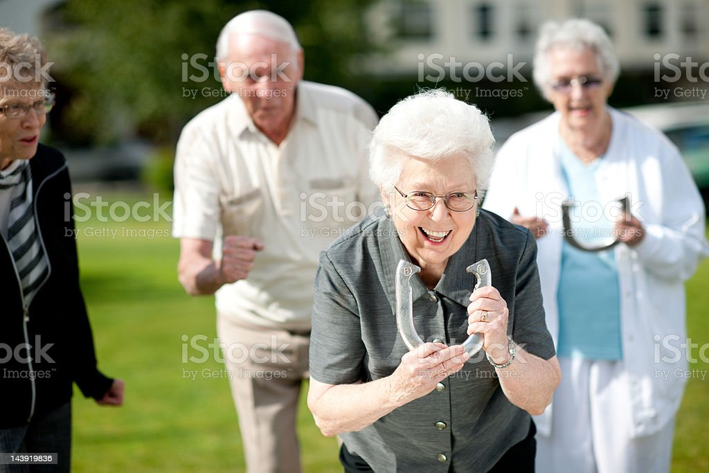Senior adults stock photo