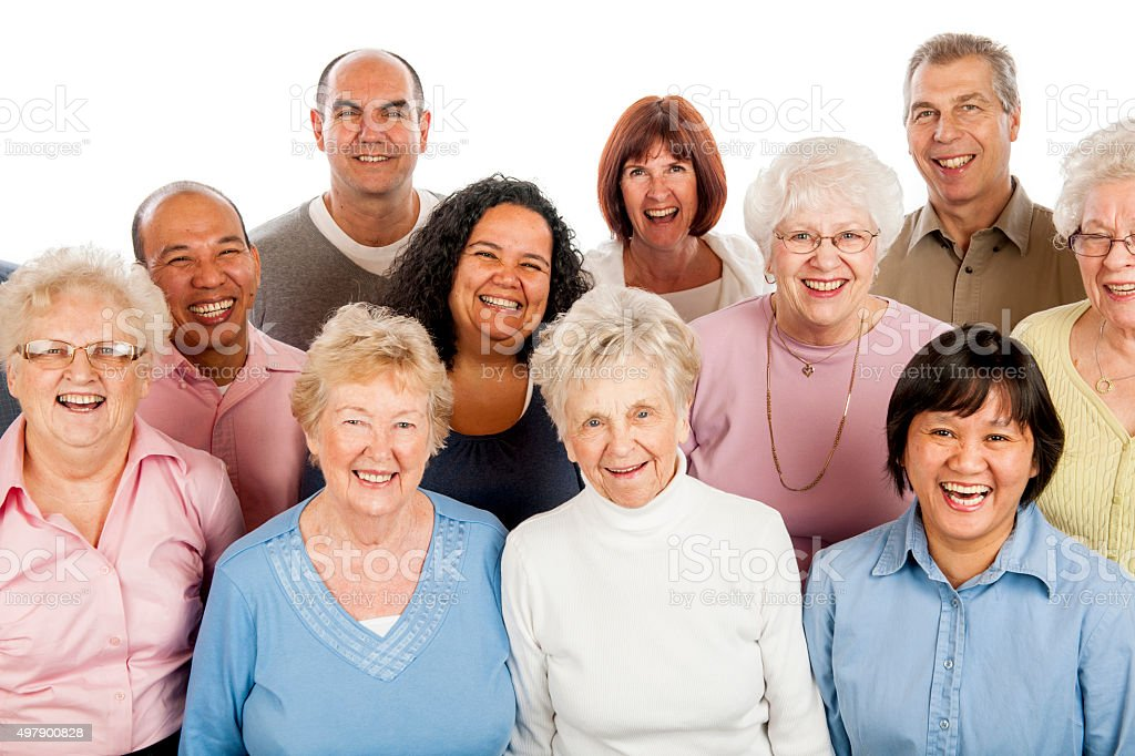 Senior Adults Standing Together stock photo