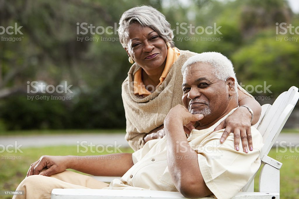 Senior African American couple royalty-free stock photo