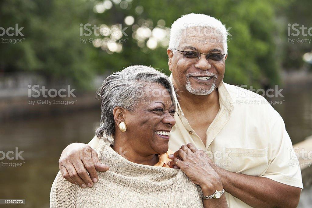 Senior African American couple royalty-free stock photo