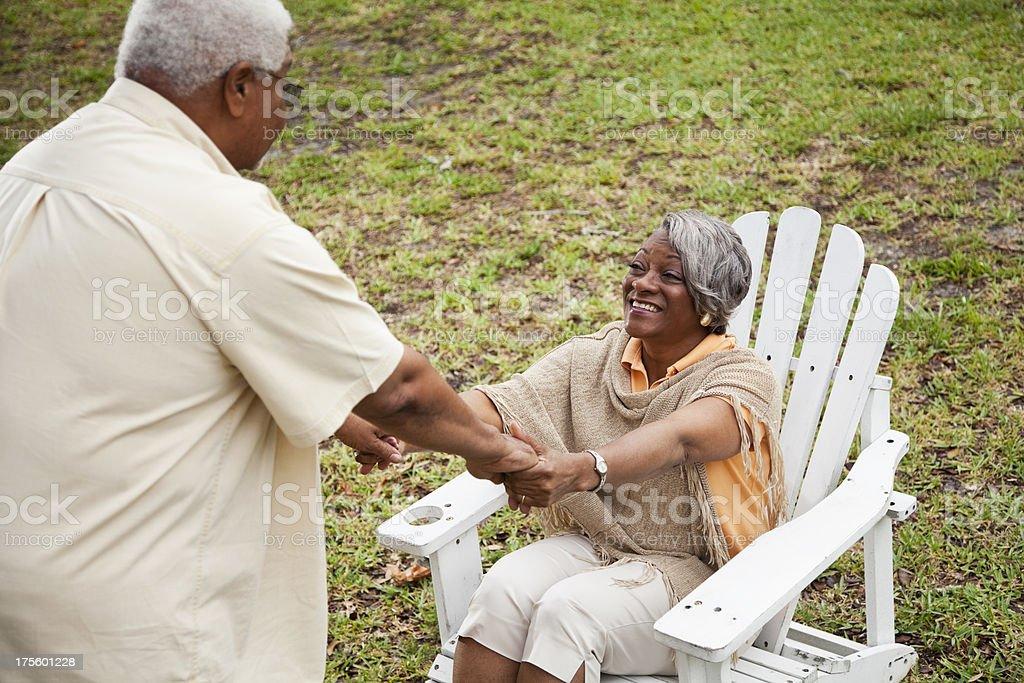 Senior African American couple stock photo