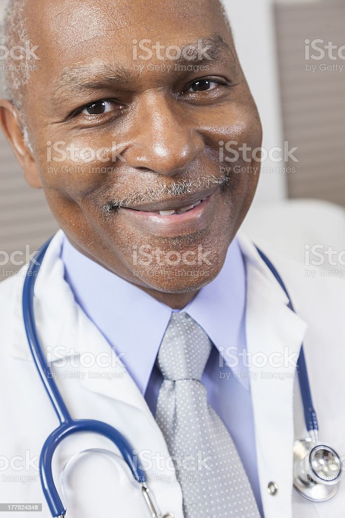 Senior African American Male Doctor With Stethoscope royalty-free stock photo