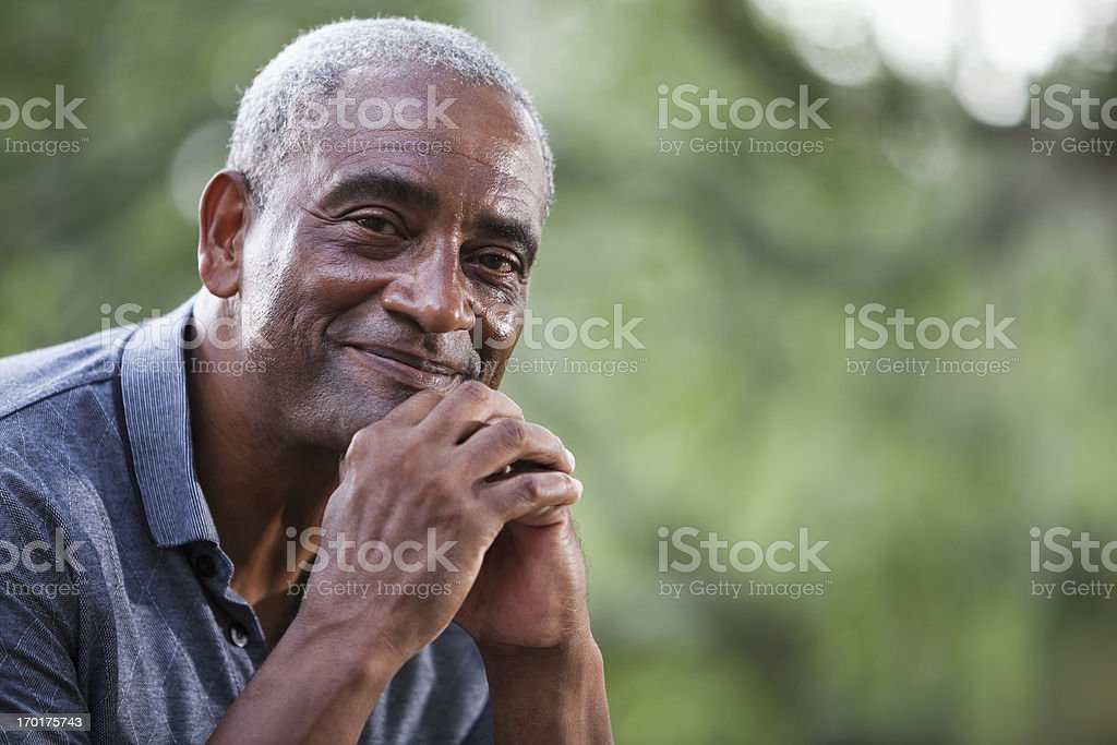 Senior African American man stock photo