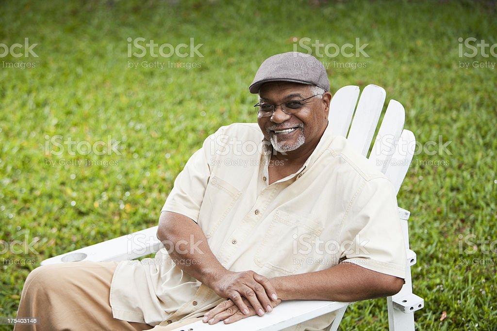 Senior African American man stock photo