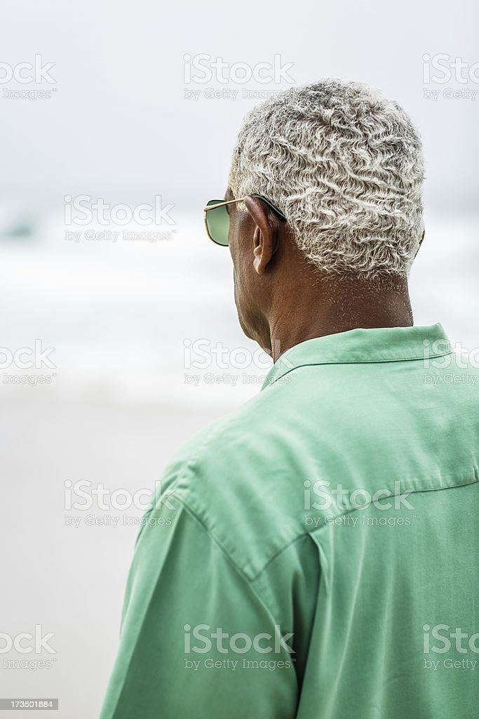 Senior African American man portrait royalty-free stock photo