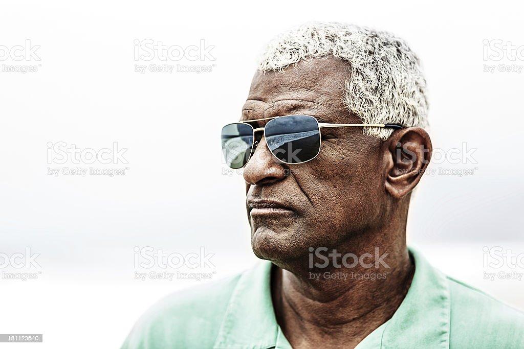 Senior African American man portrait royalty-free stock photo