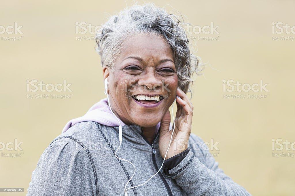 Senior African American woman stock photo