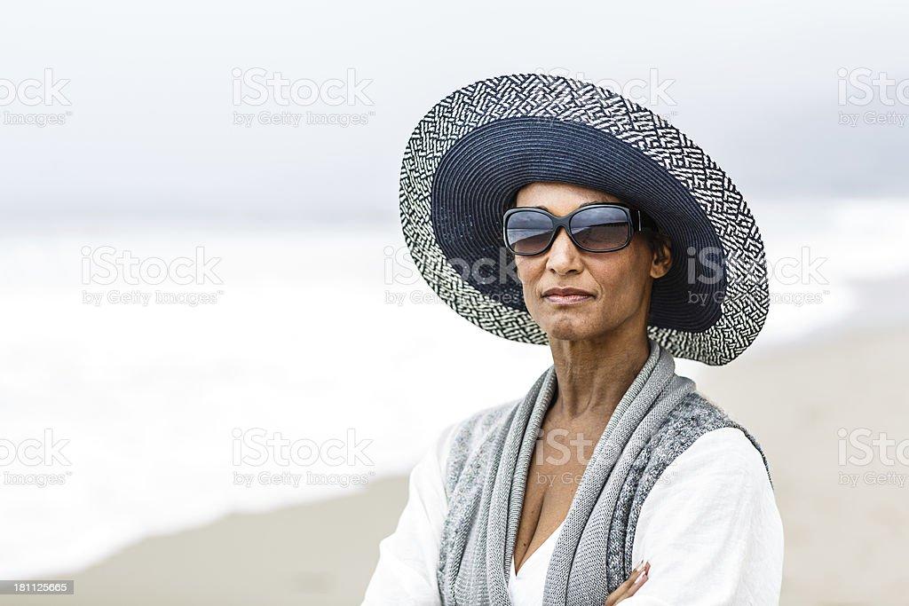 Senior African American woman portrait royalty-free stock photo