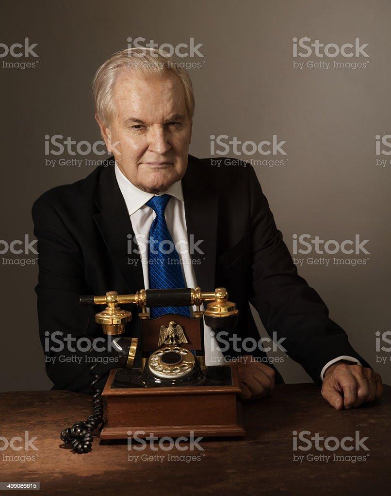 senior an presidential phone stock photo