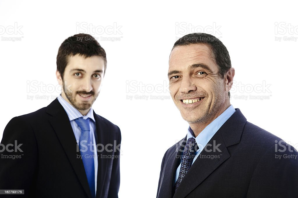 Senior and Junior partners royalty-free stock photo
