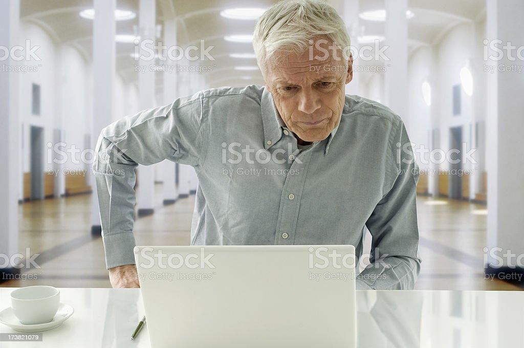 Senior and Laptop royalty-free stock photo