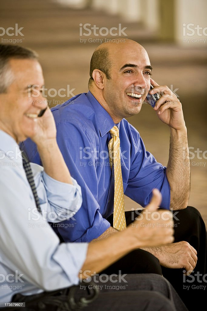Senior and mid adult businessman stock photo