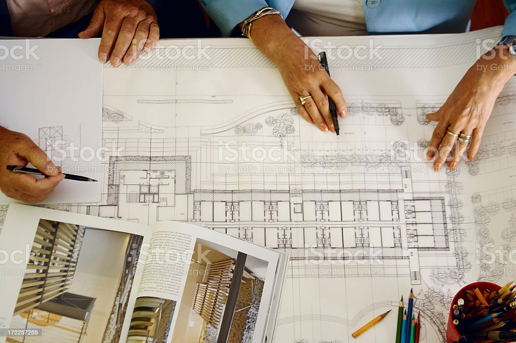 Senior architects royalty-free stock photo