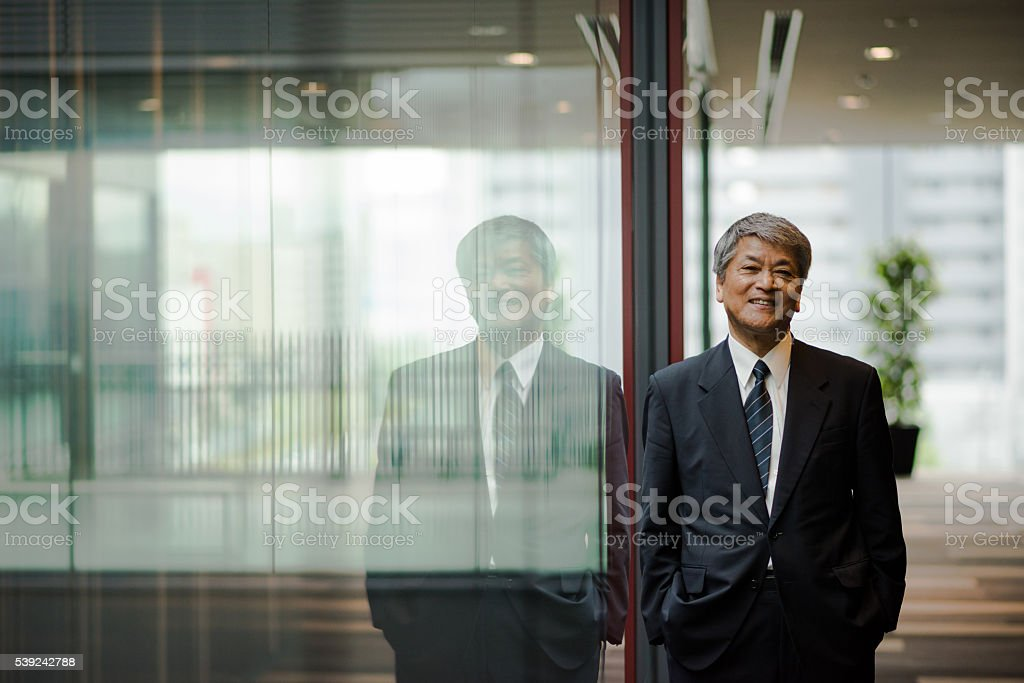 Senior Asian business executive stock photo