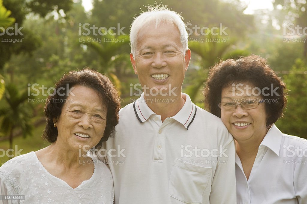 Senior Asian royalty-free stock photo