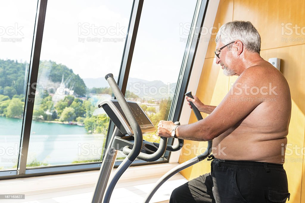 Senior at fitness royalty-free stock photo