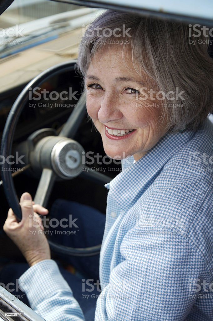 Senior Behind the Wheel royalty-free stock photo