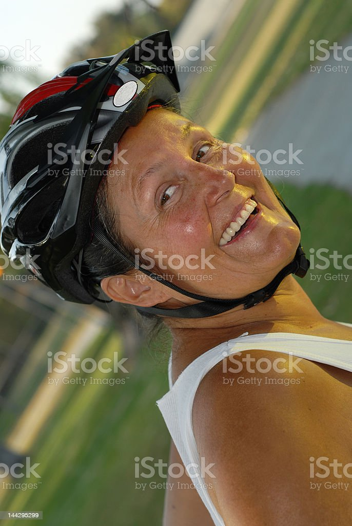 Senior bicyclist royalty-free stock photo