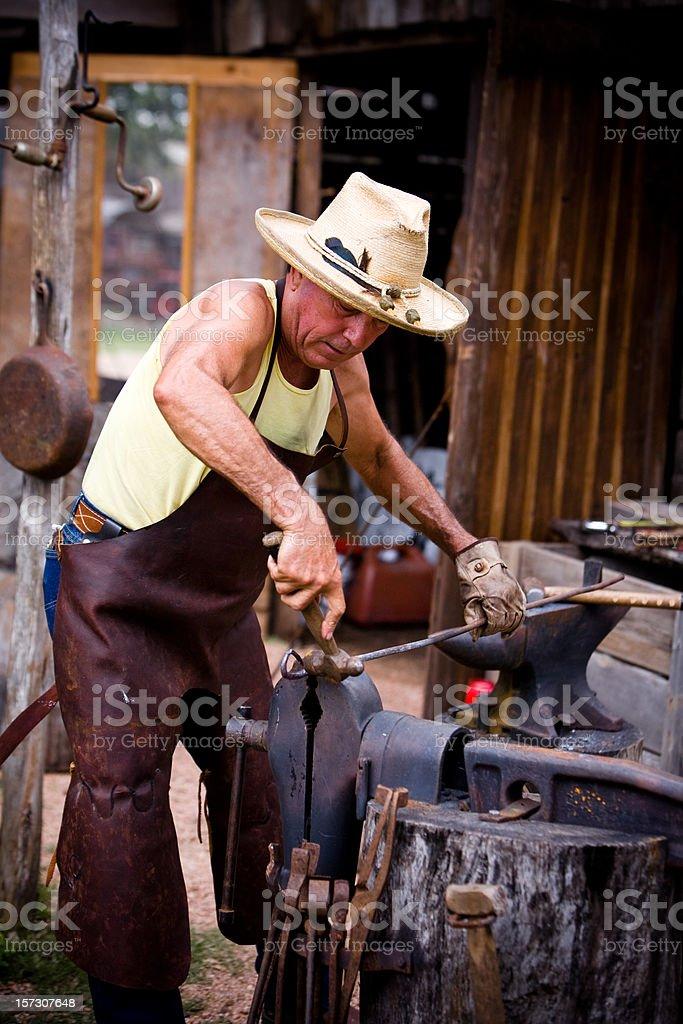 Senior blacksmith royalty-free stock photo