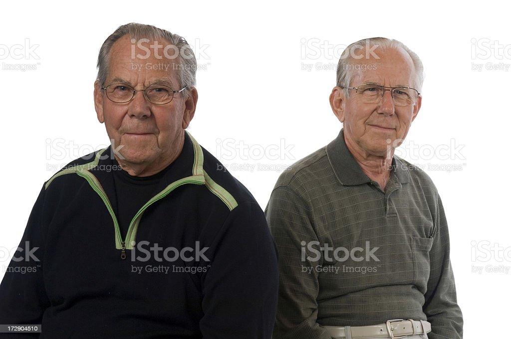 Senior Brothers royalty-free stock photo