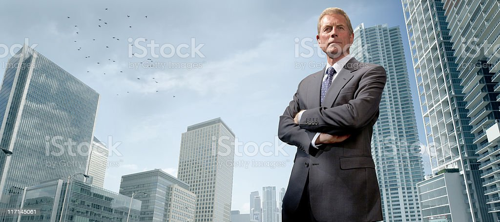 Senior Business Man in City royalty-free stock photo