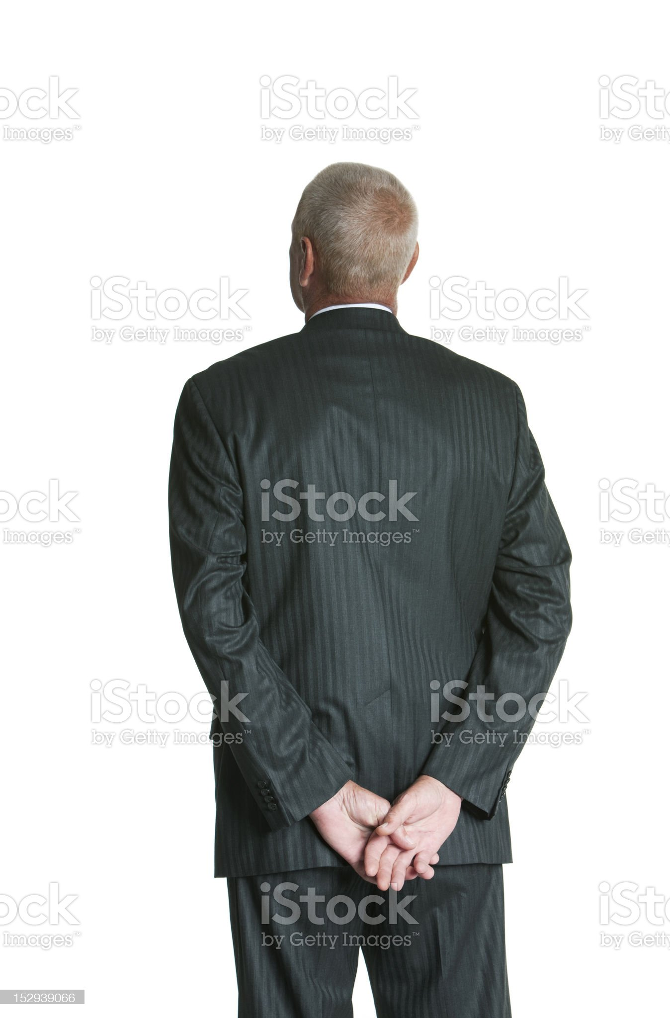 Senior business man with back towards camera royalty-free stock photo