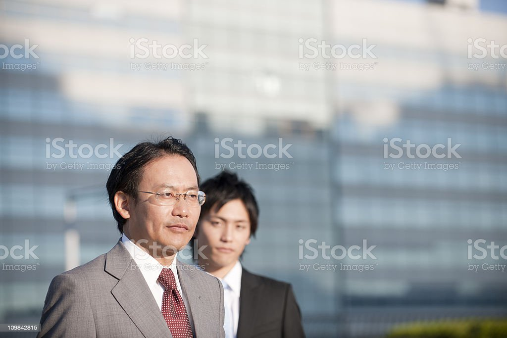 Senior Business Man with trainee looking on stock photo