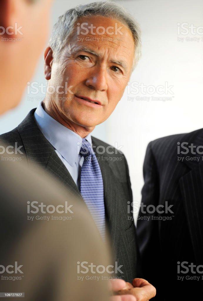 senior business men royalty-free stock photo